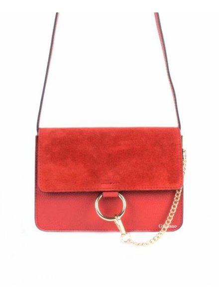 SUEDE RED BAG
