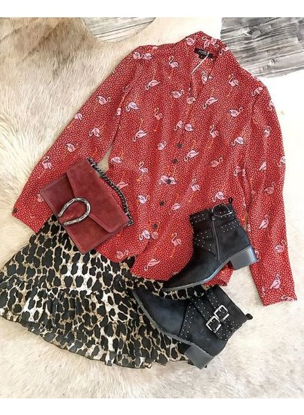 FLAMINGO BLOUSE RED
