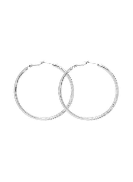 EARRINGS STRIPED HOOPS