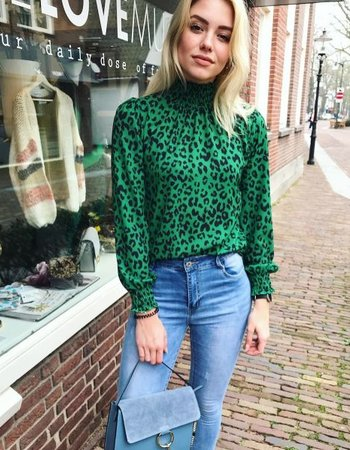 LEO BLOUSE GREEN