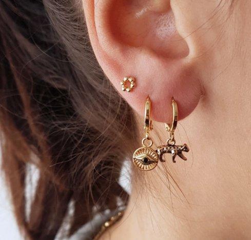 """EARRINGS LUCKY LEOPARD """"SILVER"""""""