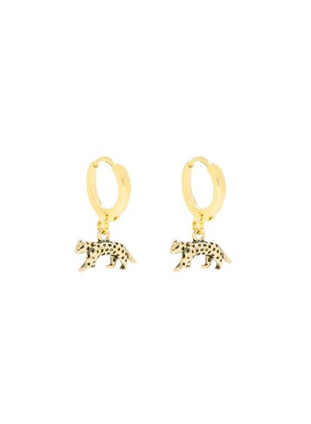 "EARRINGS LUCKY LEOPARD ""GOLD"""