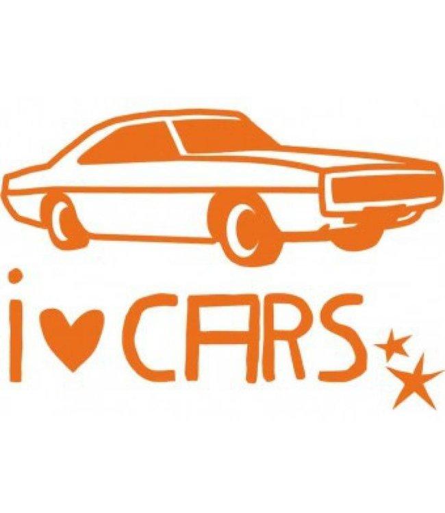 Mimi-lou Muursticker - Small - I love Cars