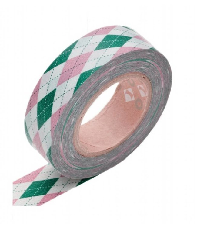 StudioZomooi Ruit Tape - roze groen