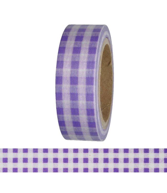 StudioZomooi Ruitjes tape - paars
