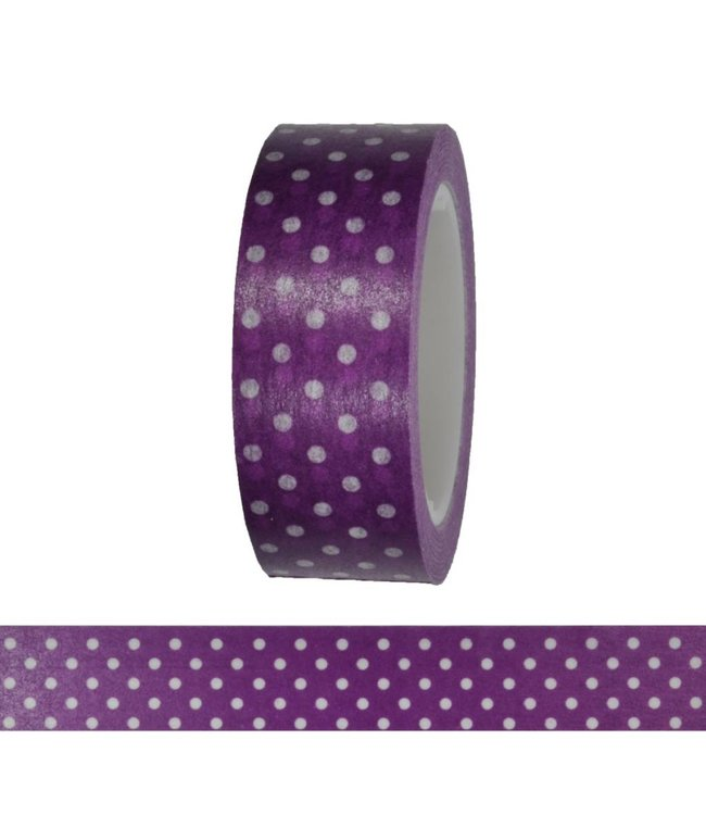 Rico Design Bolletjes tape - paars
