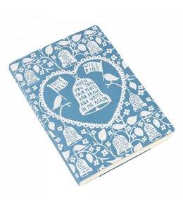 Wild and Wolf A5 Notitieboek Rob Ryan blauw - blanco