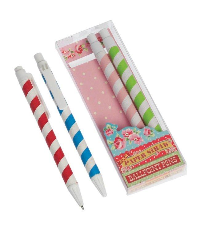 Dotcomgiftshop 4 Gestreepte pennen
