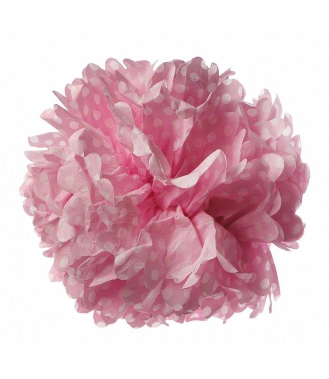 Sass & Belle Pompom 33cm - roze/stip