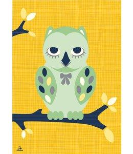 Miss Honeybird Poster - Wijze Uil - 60x42 cm