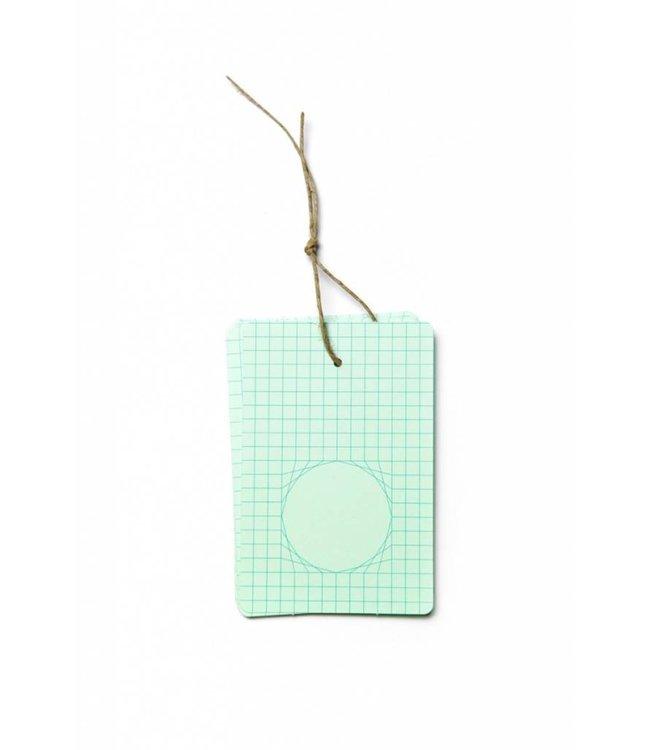 Ontwerpduo Unstationary Tags - koper groen