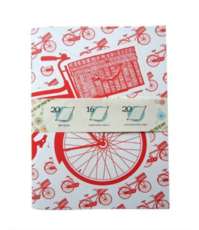 De Krantenkapper Schrift Transporter - rood