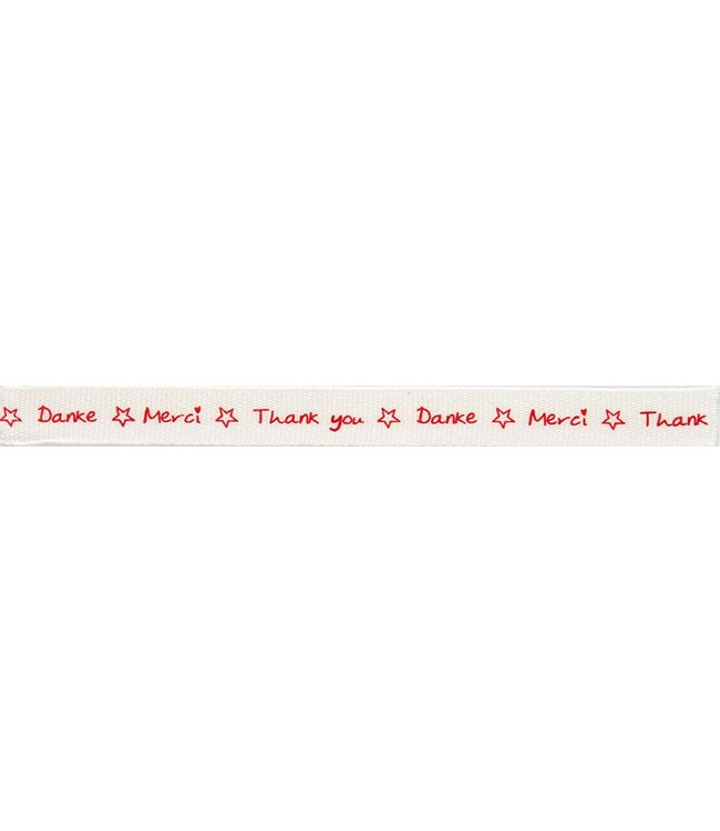 "Rico Design Lint ""Thank you"" rood"