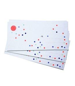 Bl-ij 6 Enveloppen Confetti