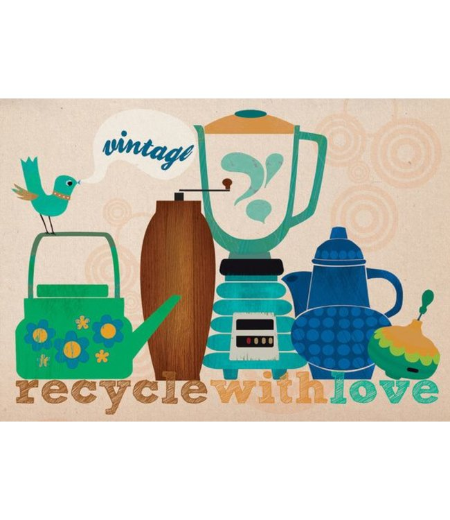 Elisandra Postkaart - Recycle with love