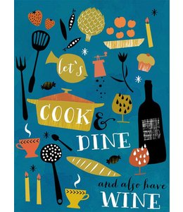 Elisandra Postkaart - let's cook