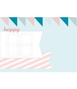 Bl-ij Postkaart - happy