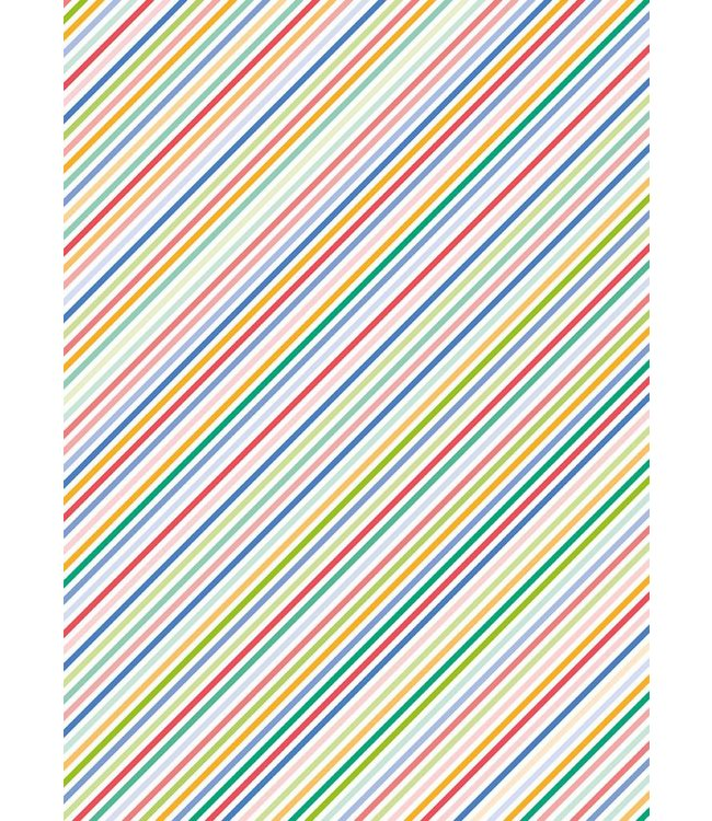 Rico Design Decoupage papier - multicolour lijnen