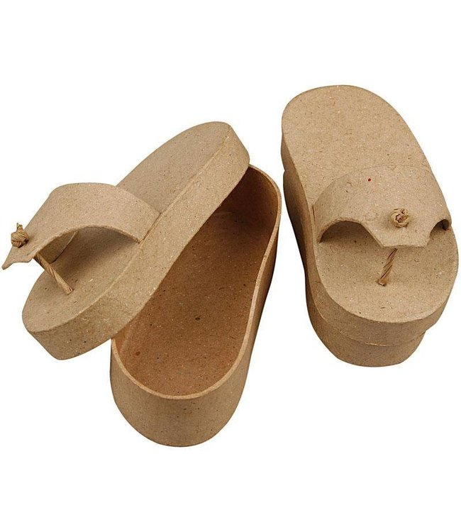 StudioZomooi Papier-maché slipper doosjes