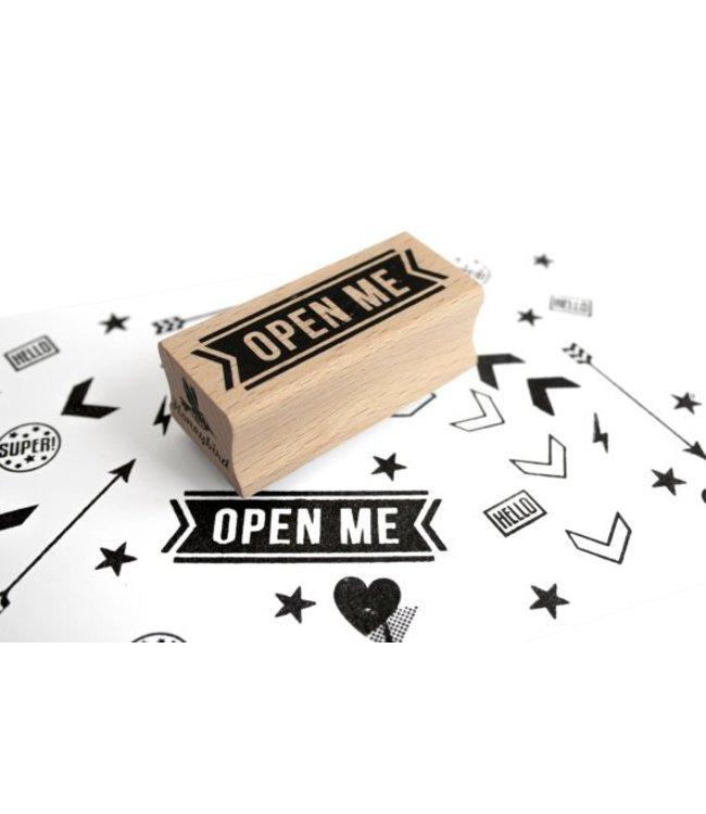 Miss Honeybird Stempel Open Me