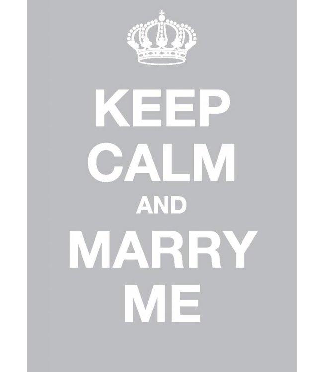 Dotcomgiftshop Postkaart - Keep Calm and Marry Me