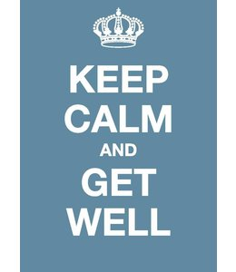 Dotcomgiftshop Postkaart - Keep Calm and Get Well
