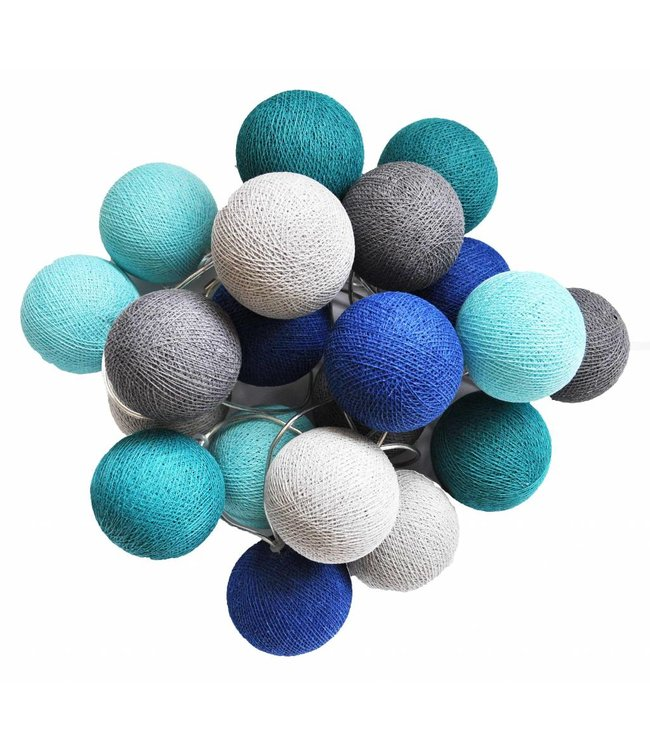 Cotton Ball Lights Cotton Balls lichtslinger Blauw-Grijs
