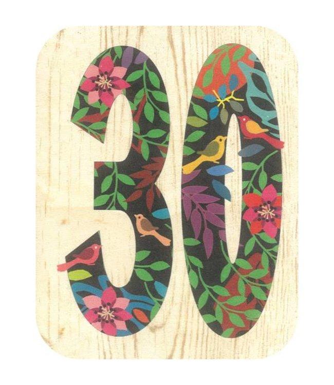 Forever Handmade Cards Houten kaart - 30