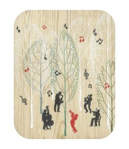 Forever Handmade Cards Houten kaart - Music in the Forest