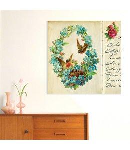 Poster poëzieplaatje - Bloemenkrans
