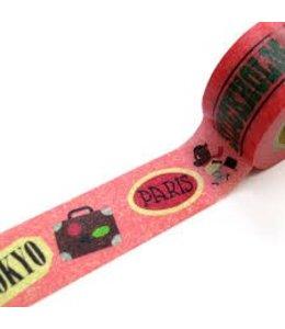 Maste Washi Tape 2cm - Ingela roze