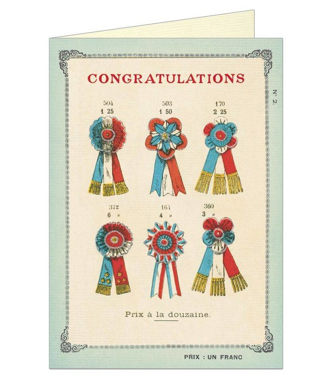 Cavallini & Co Kaart - Congratulations
