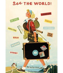 Cavallini & Co Poster/cadeaupapier - Travel