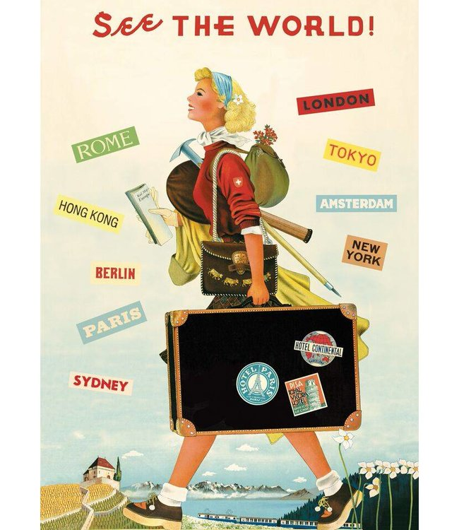 Cavallini & Co Poster/cadeaupapier - Travel