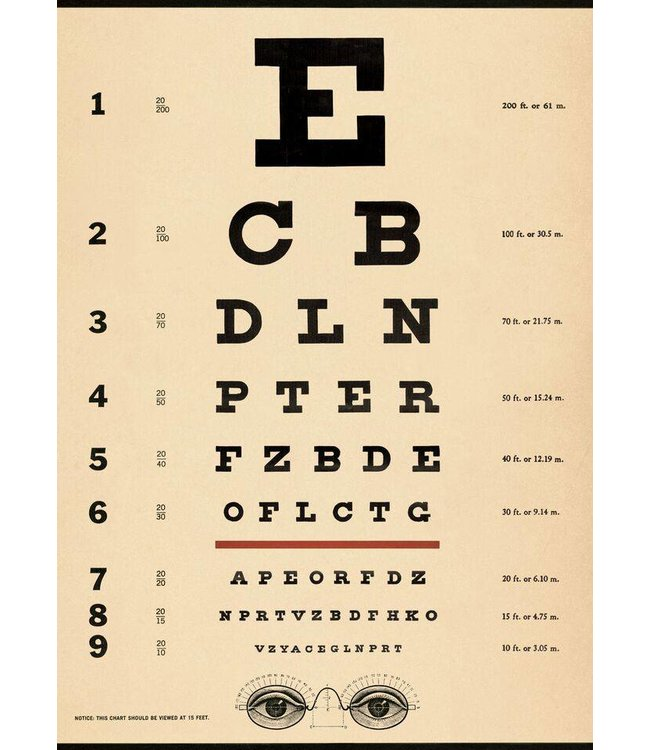 Cavallini & Co Poster/cadeaupapier - Oogtest