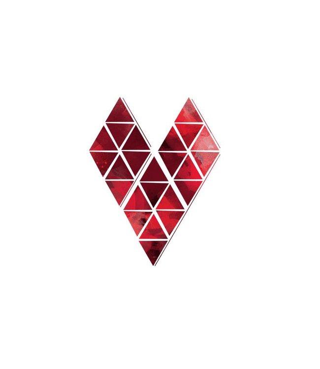Dottinghill Tattoo set - Harten origami