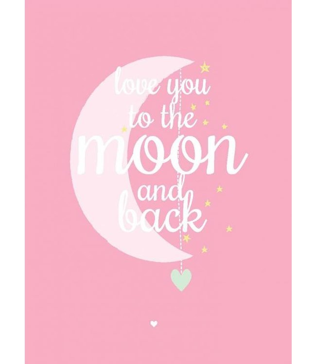 Petite Louise Postkaart - Love you to the moon