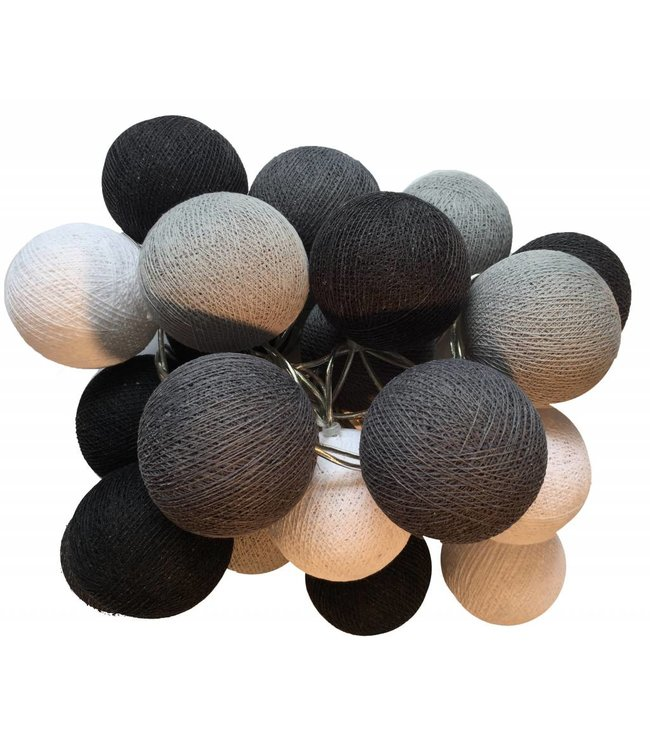 Cotton Ball Lights Cotton Balls lichtslinger Zwart-Wit