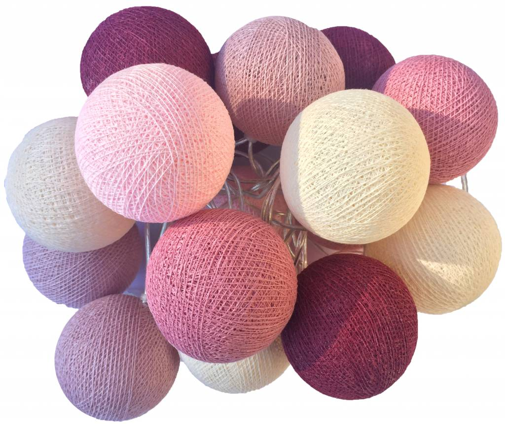 Cotton Ball Lights Cotton Balls lichtslinger Roze ...
