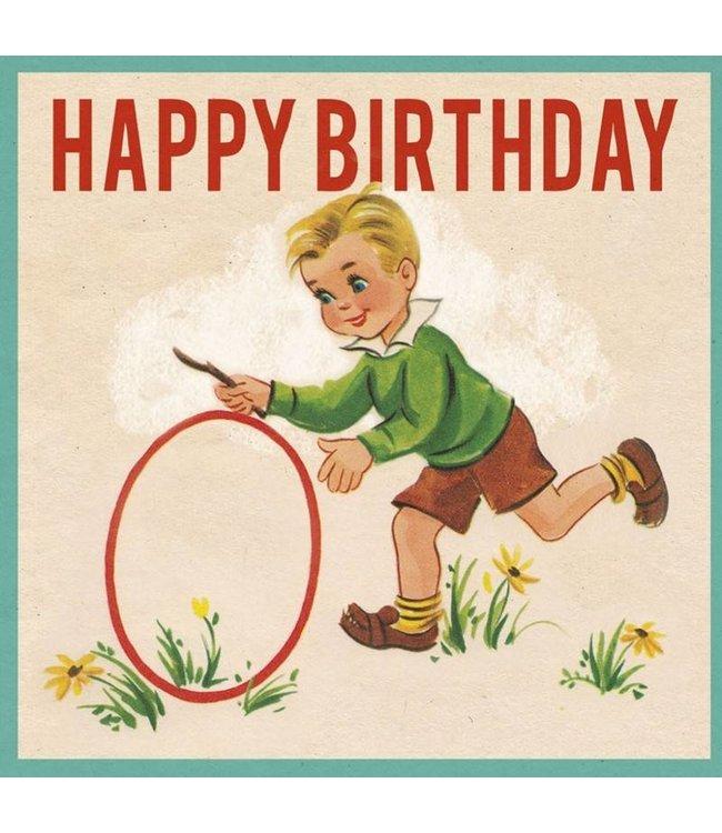 Dotcomgiftshop Verjaardagskaart Vintage boy