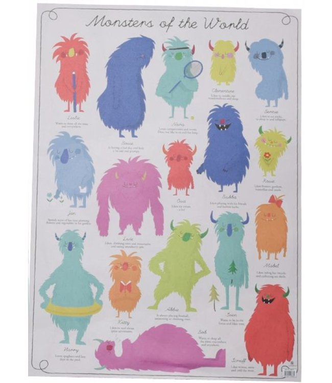 Dotcomgiftshop Poster/Cadeaupapier - monsters