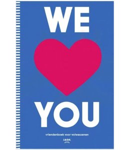 Uitgeverij Snor We Love You: vriendenboek voor volwassenen