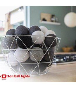 Cotton Ball Lights Cotton Balls lichtslinger Zwart-Wit