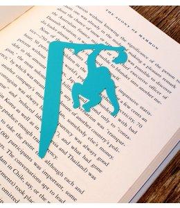 Lazy Smith Bookmark - chimpansee geel/blauw