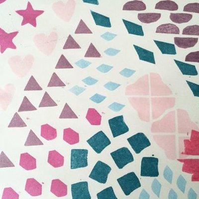Textiel stempels en inkt