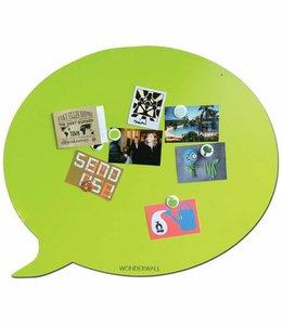 Wonderwall Extra groot magneetbord - Tekstballon groen