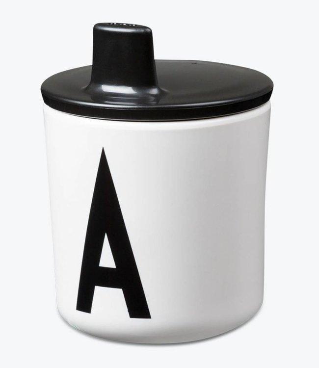 Design Letters Deksel voor melamine beker - zwart