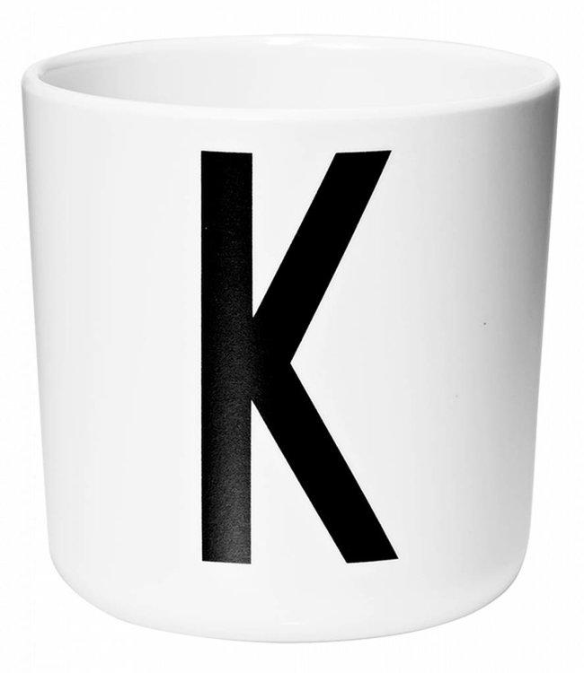 Design Letters Melamine beker - K
