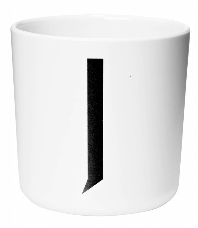 Design Letters Melamine beker - J