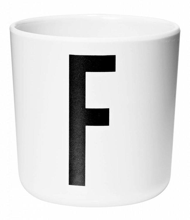 Design Letters Melamine beker - F